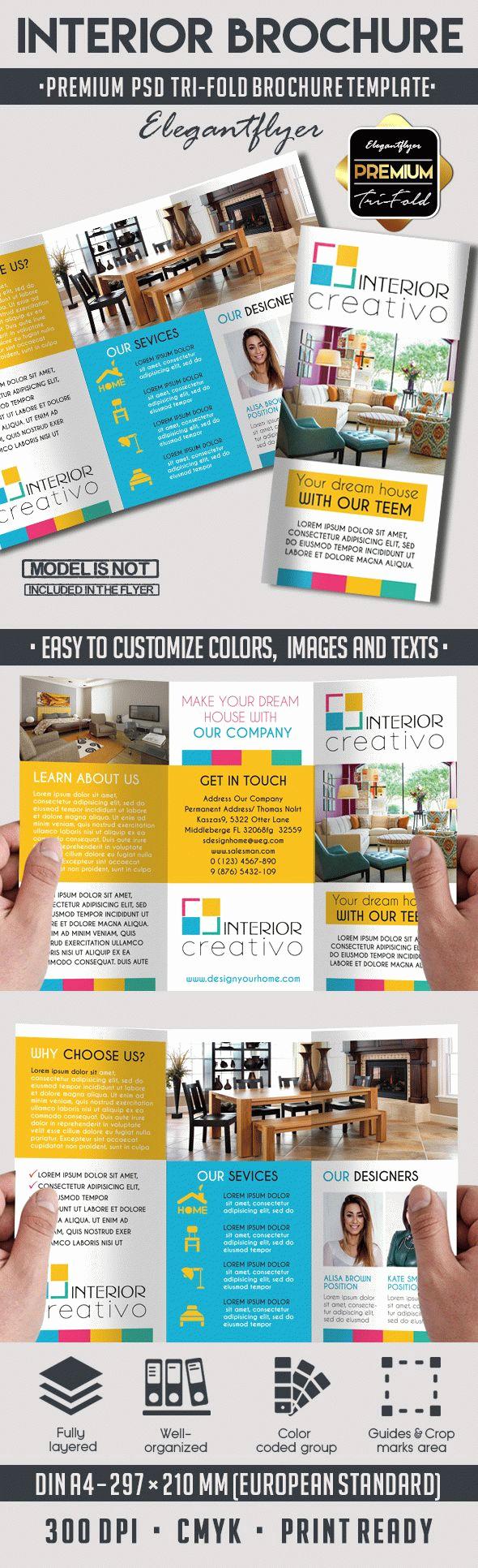 Tri Fold Brochure Template Psd Beautiful Interior – Premium Tri Fold Psd Brochure Template – by
