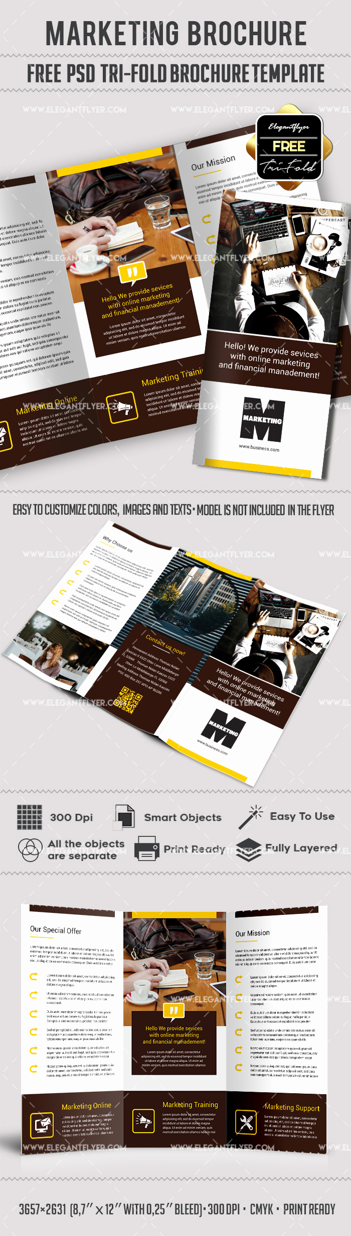 Tri Fold Brochure Template Psd Beautiful Marketing – Free Tri Fold Psd Brochure Template – by