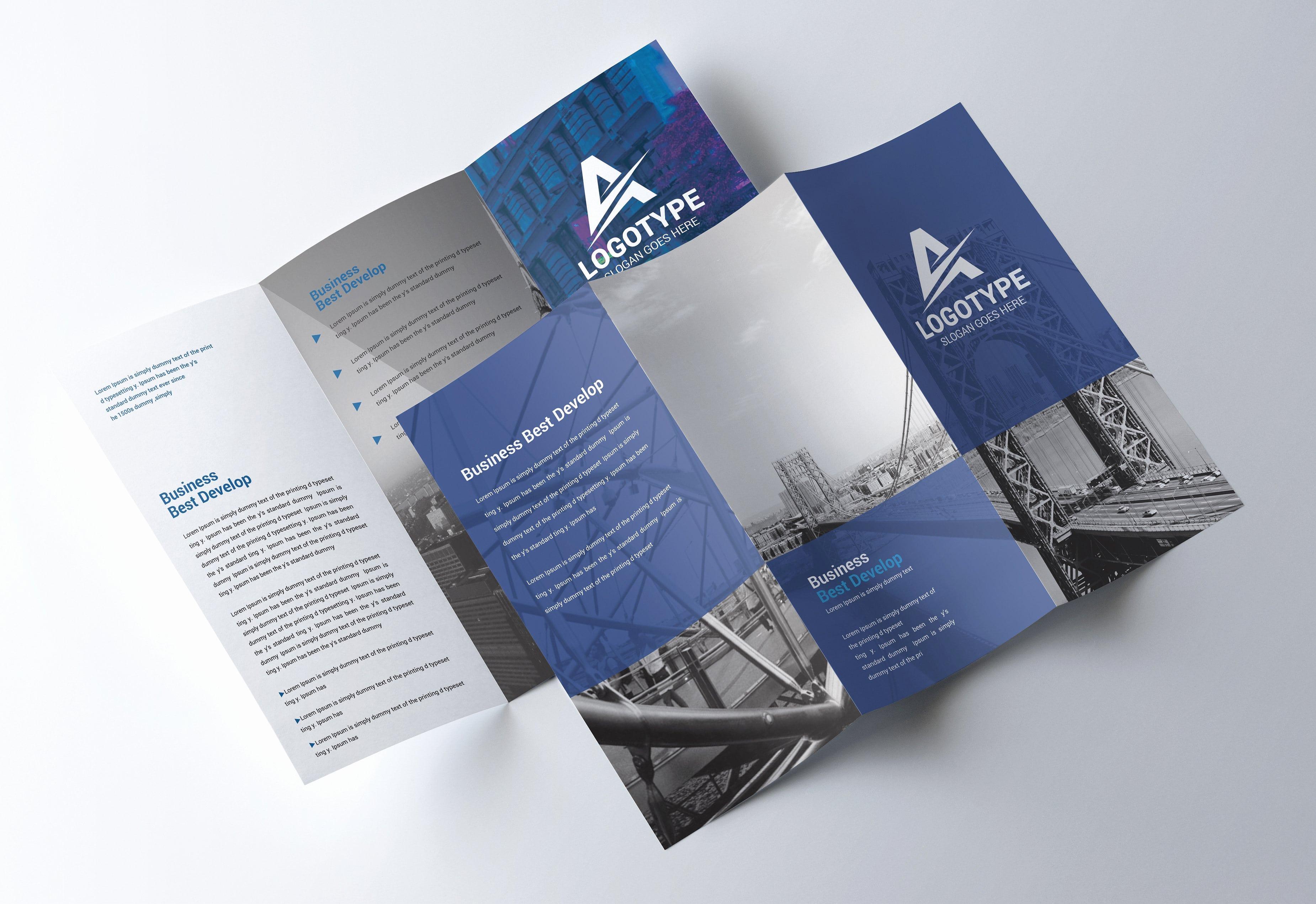 Tri Fold Brochure Template Psd Elegant Corporate Tri Fold Brochure Psd Template Free Psd