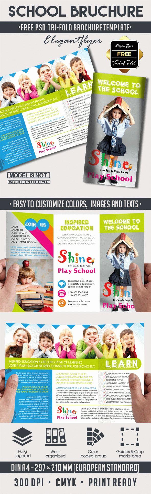 Tri Fold Brochure Template Psd Lovely School – Free Psd Tri Fold Psd Brochure Template – by