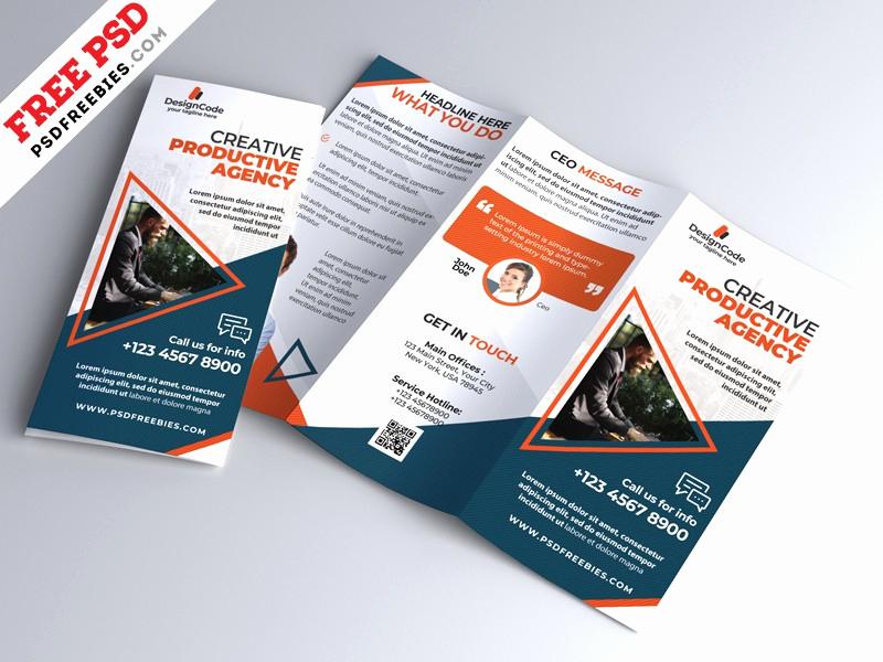 Tri Fold Brochure Template Psd Unique Corporate Tri Fold Brochure Template Psd Download Psd