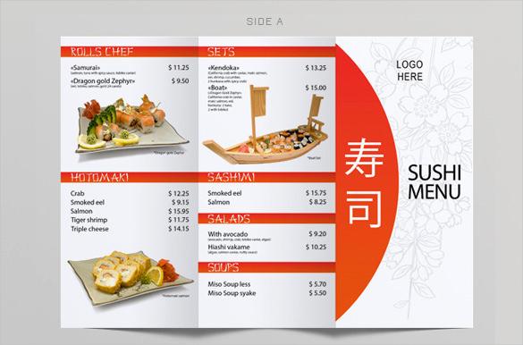 Tri Fold Menu Template Awesome 51 Restaurant Menu Templates Design Psd Docs Pages