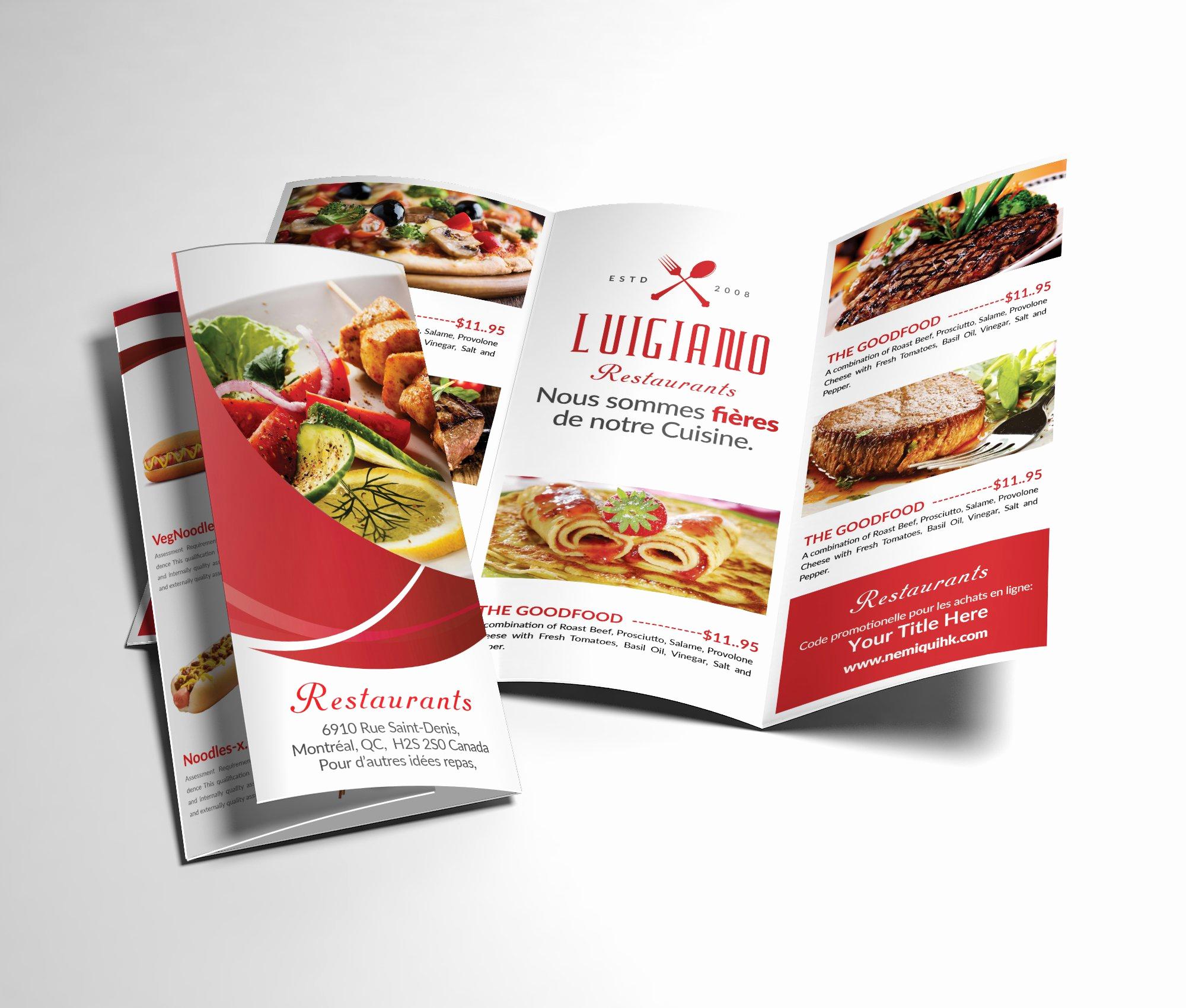 Tri Fold Menu Template Awesome Restaurant Menu Tri Fold Brochure Brochure Templates
