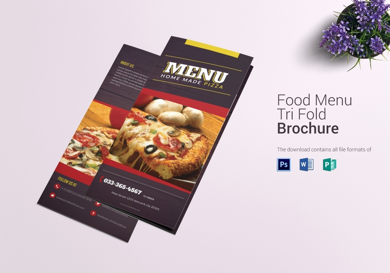 Tri Fold Menu Template Beautiful 14 Restaurant Tri Fold Brochure Designs & Templates Psd