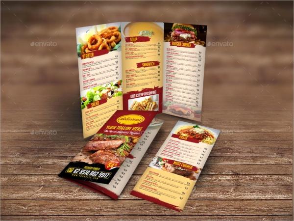 Tri Fold Menu Template Best Of 23 Menu Templates Ai Psd Docs Pages In Design