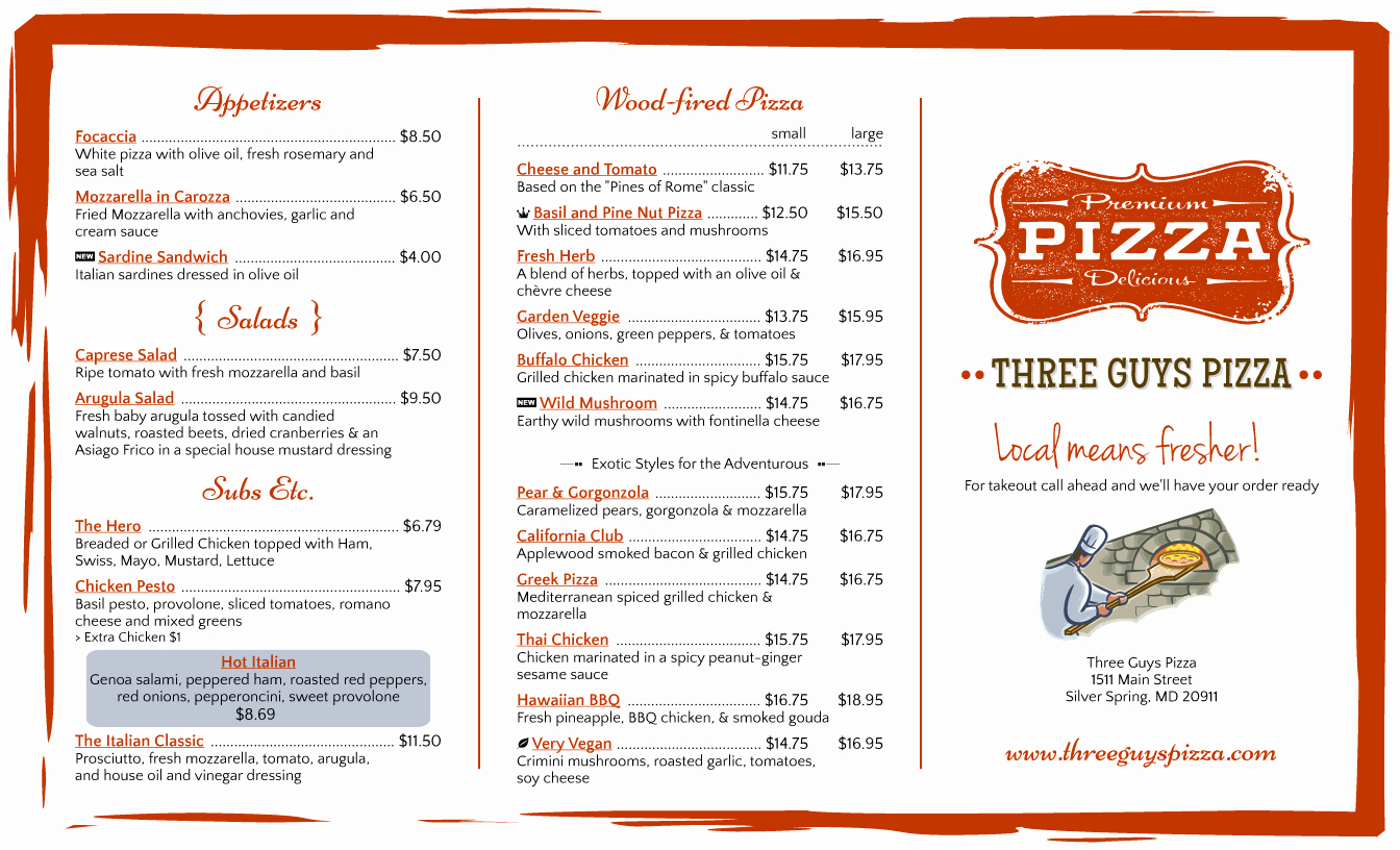 Tri Fold Menu Template Best Of Menu Design Samples From Imenupro More Than Just Templates