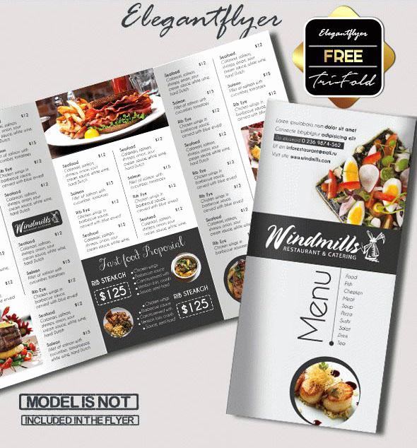 Tri Fold Menu Template Elegant 69 Premium and Free Psd Tri Fold & Bi Fold Brochures