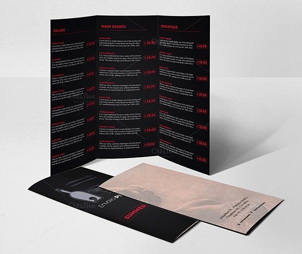 Tri Fold Menu Template New 38 Menu Design Templates Free Psd Eps Documents
