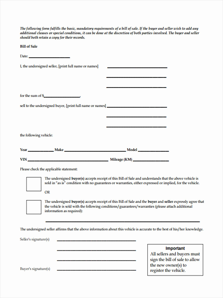 Truck Bill Of Sale Best Of Truck Bill Of Sale forms 6 Free Documents Word Pdf