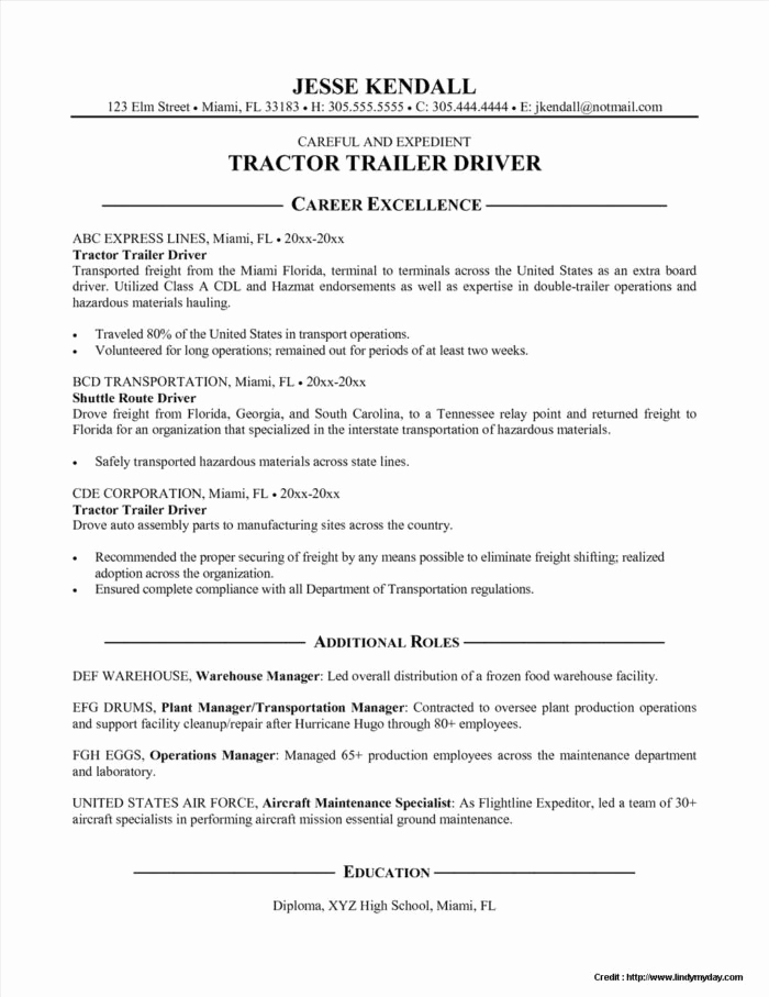 Truck Driver Resume Sample Awesome Delivery order Invoice Template Templates Resume