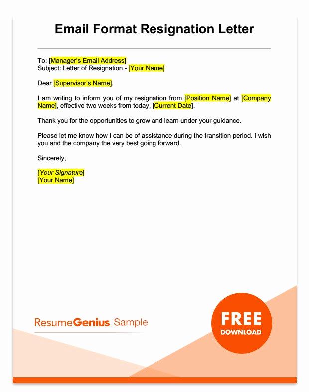 Two Week Resignation Letter Elegant Two Weeks Notice Letter Sample Free Download