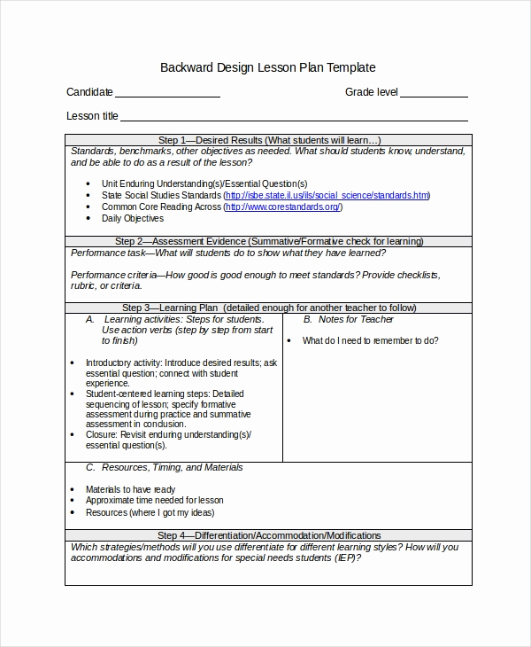 Udl Lesson Plan Template Lovely Differentiated Instruction Template 7 Free Word Pdf