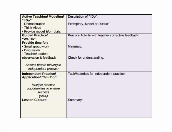 Unit Lesson Plan Template Fresh 10 Unit Lesson Plan Samples