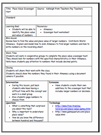 Unit Lesson Plan Template Lovely Lesson Plan format Being A Teacher