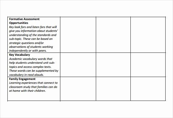 Unit Lesson Plan Template Luxury 10 Unit Lesson Plan Samples