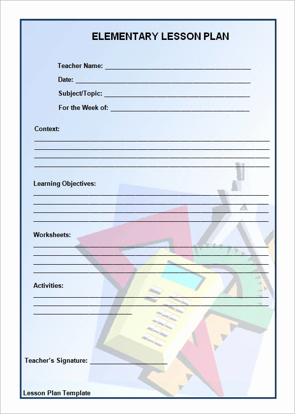 Unit Lesson Plan Template New 12 Sample Unit Plan Templates to Download for Free