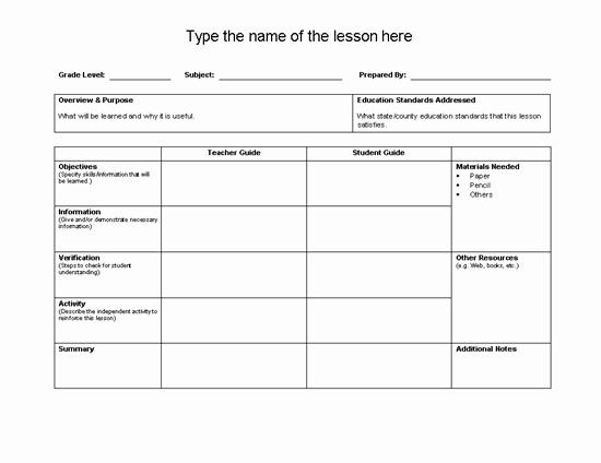 Unit Lesson Plan Template New Best 25 Unit Plan Template Ideas On Pinterest