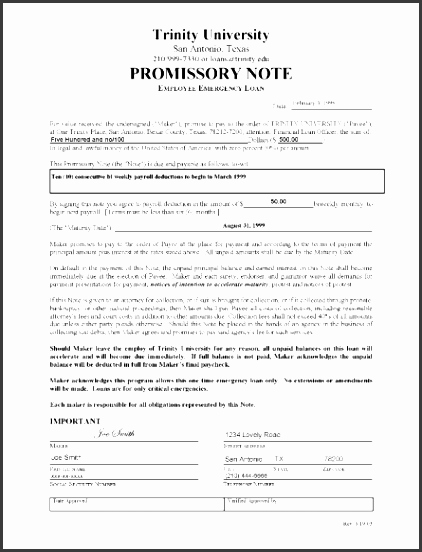 Unsecured Promissory Note Template Inspirational 8 Promissory Note Template Sampletemplatess