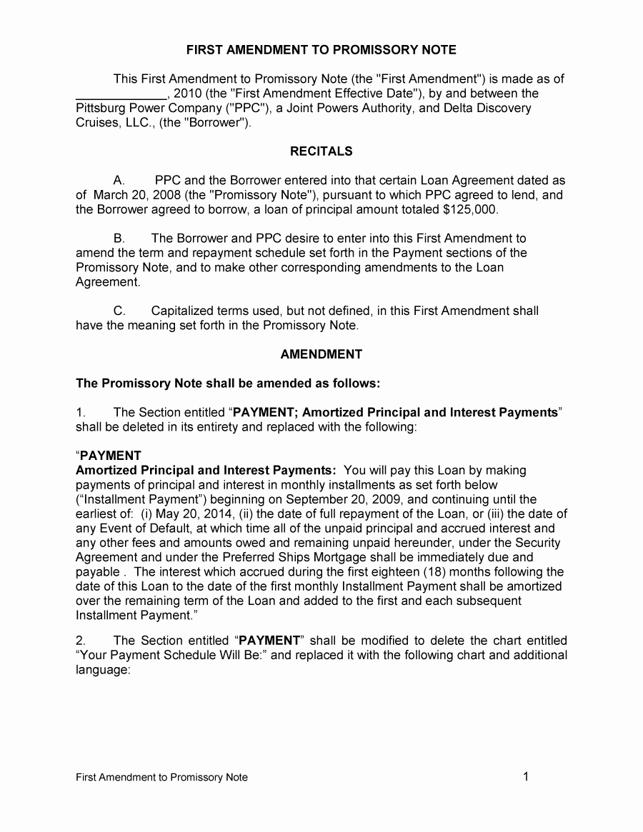 Unsecured Promissory Note Template Lovely 45 Free Promissory Note Templates & forms [word & Pdf]