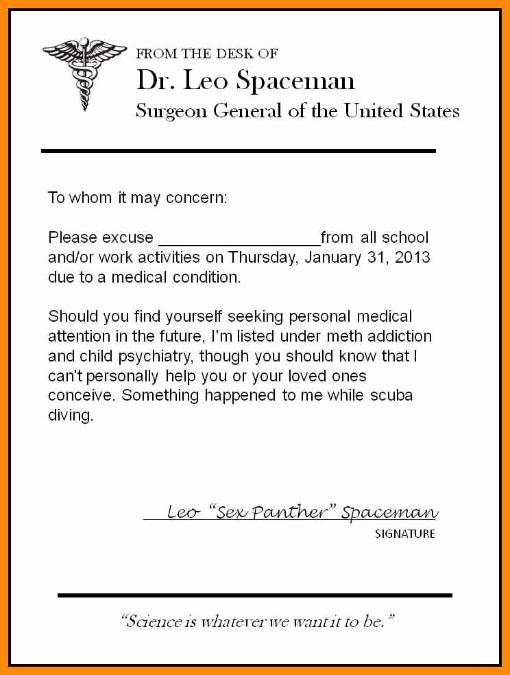 Urgent Care Doctors Note Template Awesome 5 6 How to Fake Doctors Note for School