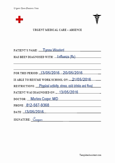 Urgent Care Doctors Note Template Fresh 5 Doctor S Note Templates Vectorgraphit