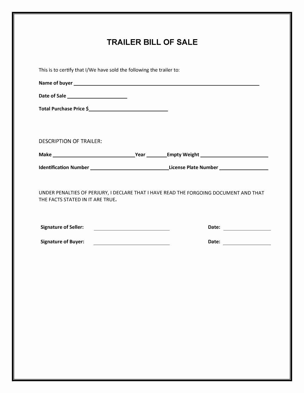 Vehicle Bill Of Sale Example Awesome 45 Fee Printable Bill Of Sale Templates Car Boat Gun