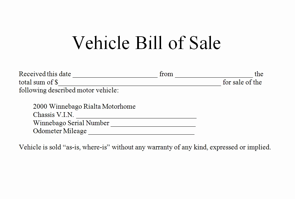 Vehicle Bill Of Sale form Inspirational How to Write Bill Of Sale for Car