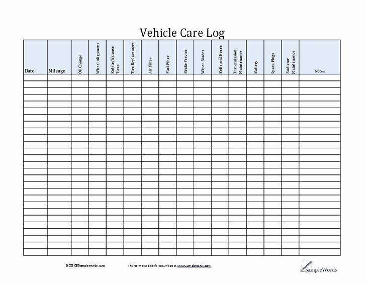 Vehicle Maintenance Log Pdf Fresh Pin by Lone Wolf software On Car Maintenance Tips