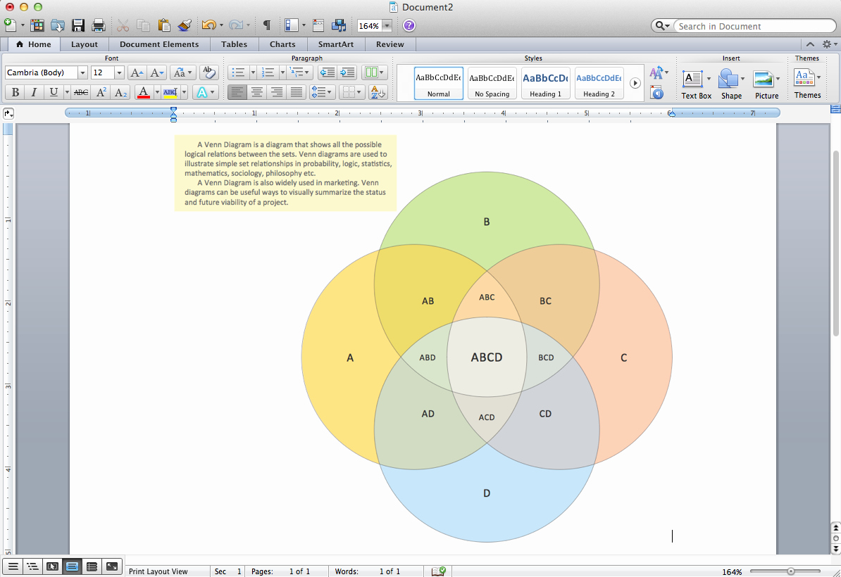 Venn Diagram Template Word New Venn Diagram Template for Word