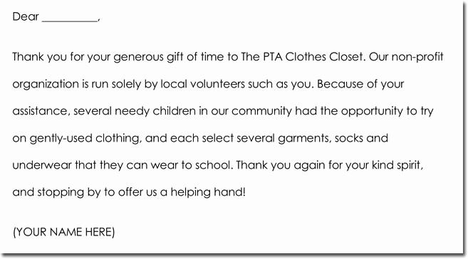 Volunteer Thank You Letter Elegant 7 Volunteer Thank You Note Templates & Wording Ideas