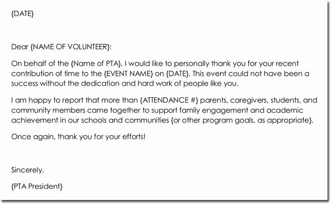 Volunteer Thank You Letter Inspirational 14 Volunteer Thank You Letter Templates Samples & formats