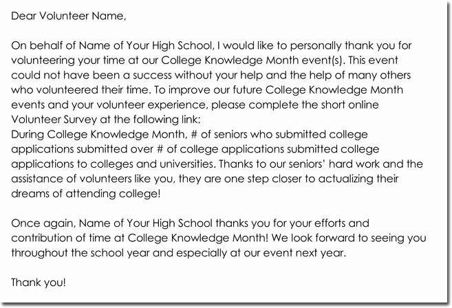 Volunteer Thank You Letter Lovely 14 Volunteer Thank You Letter Templates Samples & formats