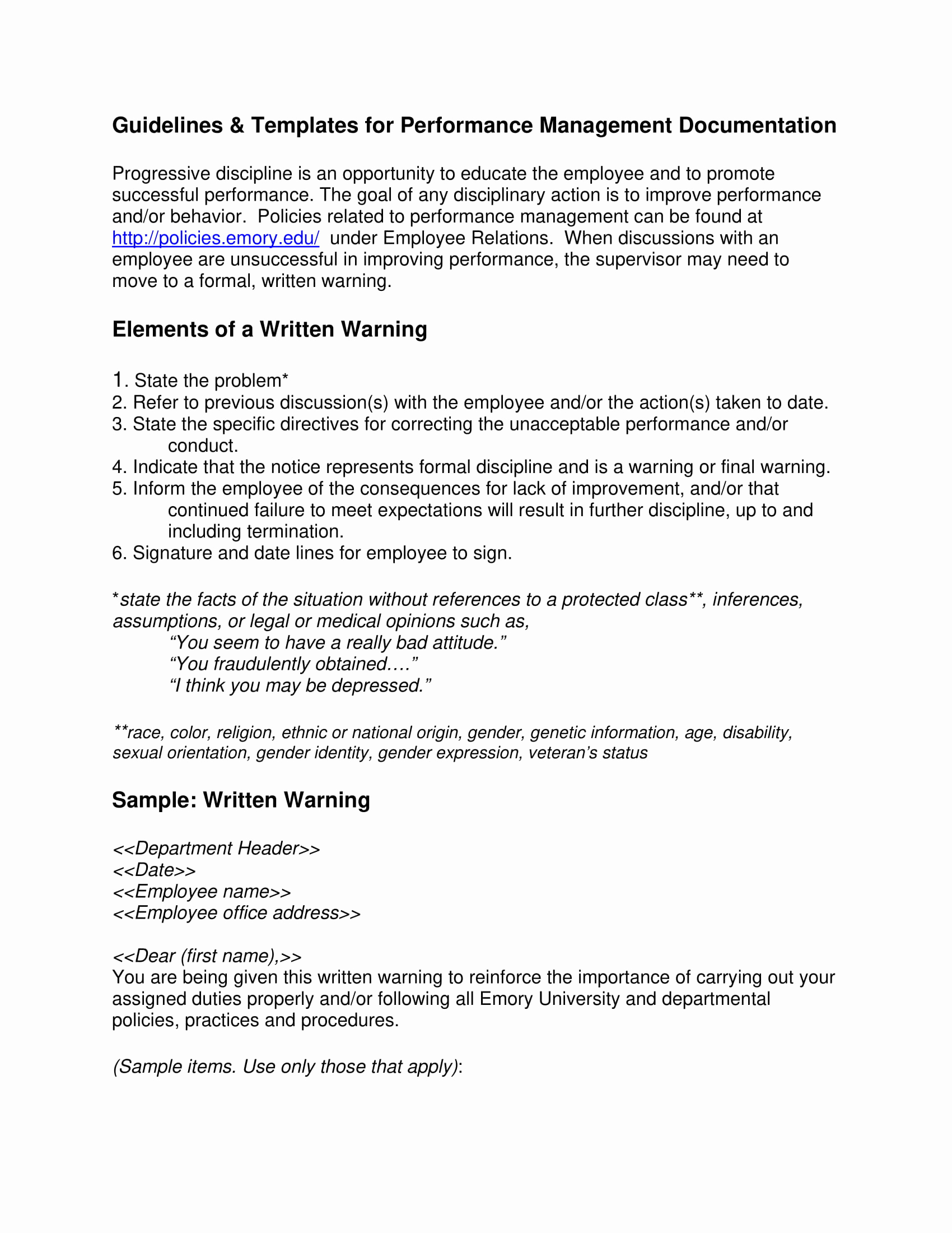Warning Letter to Employee Best Of 9 Employee Warning Letter Examples Pdf Word