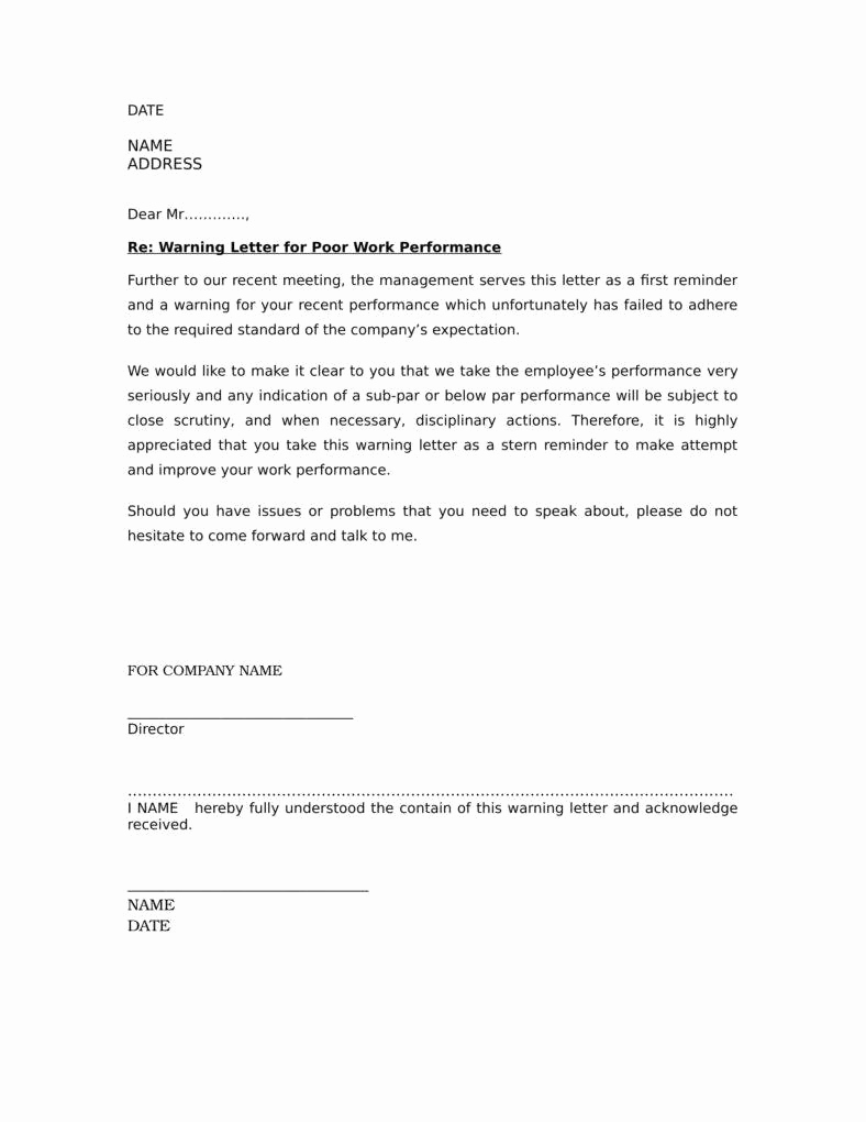 Warning Letter to Employee Best Of How to Handle Problematic Employees