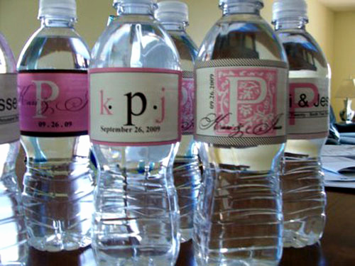 Water Bottle Labels Template Awesome something Bling Bridal Shower