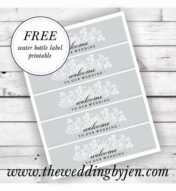 Water Bottle Labels Template Inspirational Great Tips On Wedding Wel E Bags and A Free Water Bottle