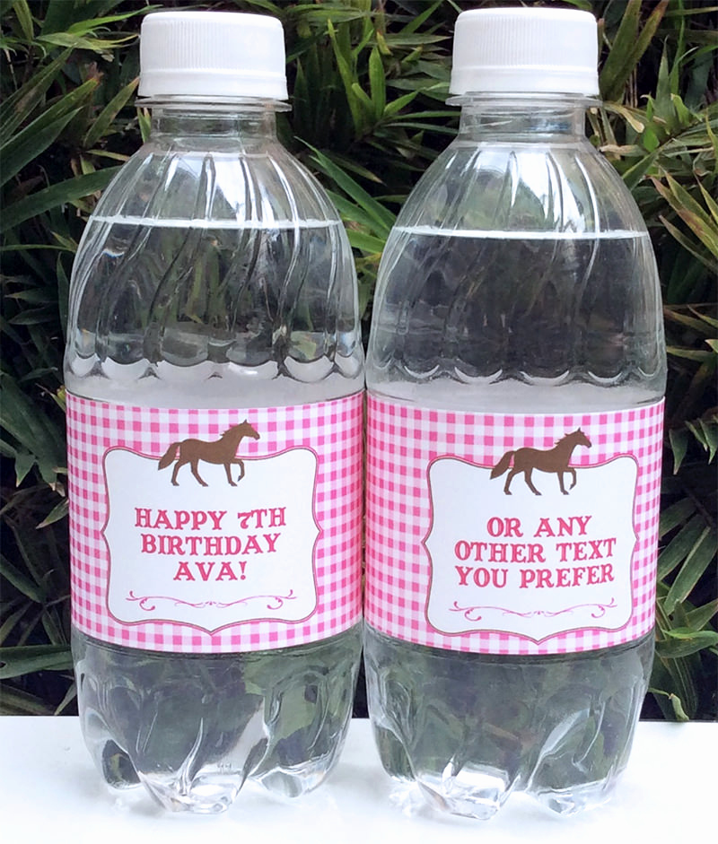 Water Bottle Labels Template Luxury Horse Birthday Party Printable Templates