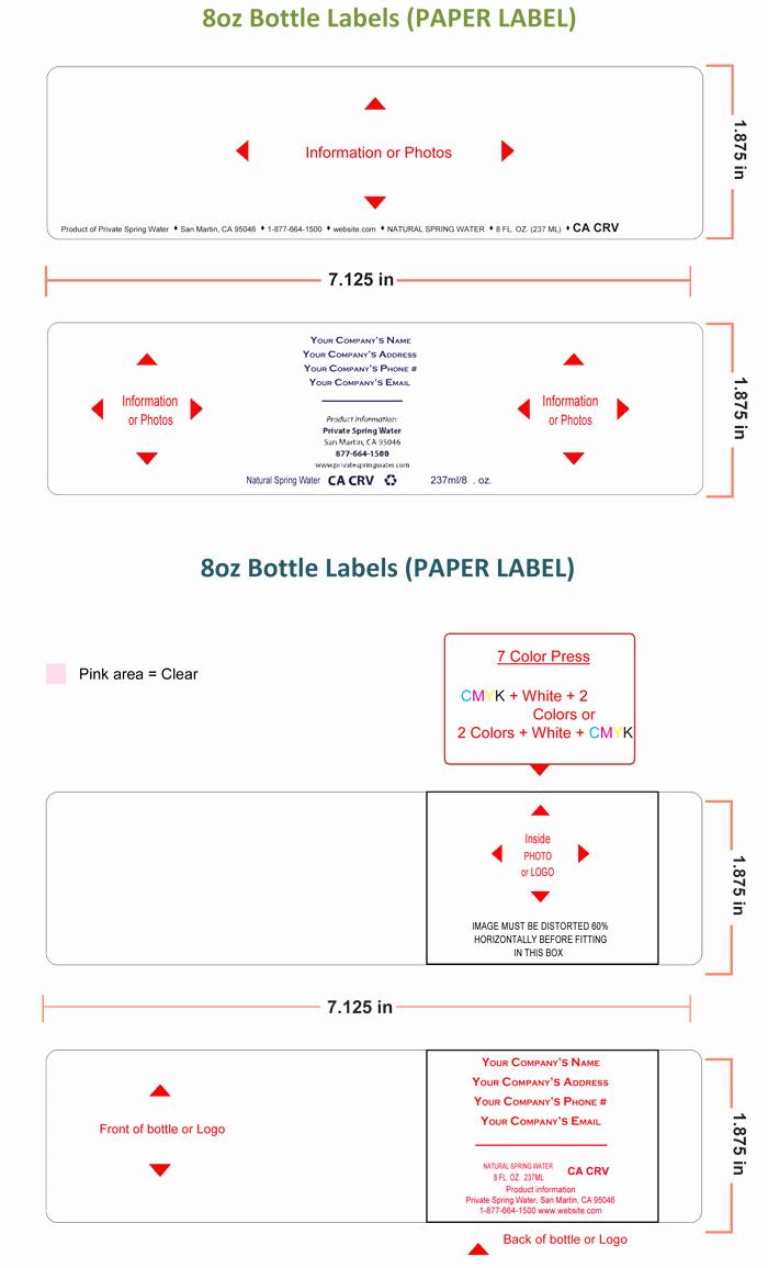 Water Bottle Labels Template Luxury Water Bottle Label Template Make Personalized Bottle Labels