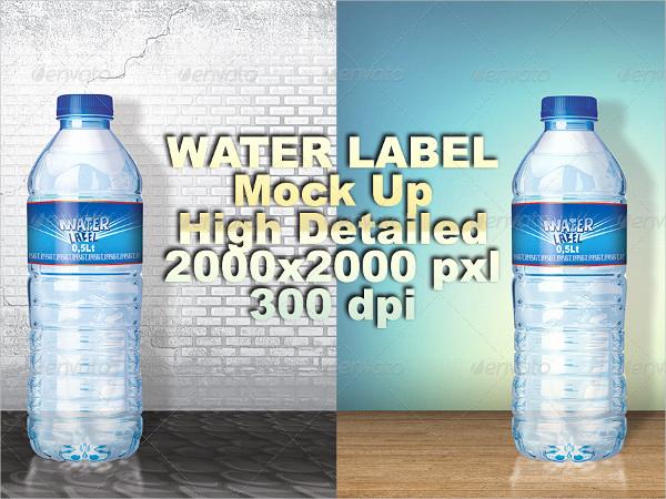 Water Bottle Labels Template Unique 23 Water Bottle Label Templates Free & Premium Download