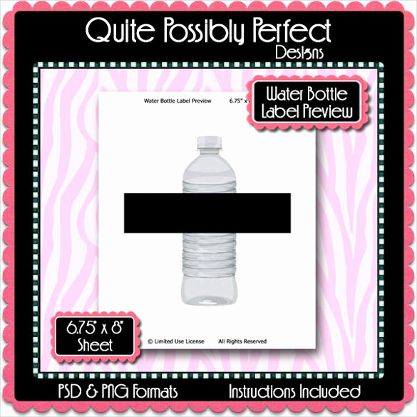 Water Bottle Labels Template Unique Water Bottle Label Template – 29 Free Psd Eps Ai
