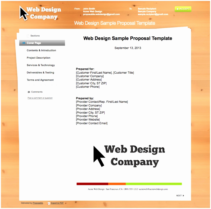 Web Design Proposal Template Best Of 10 Web Design Proposal Template Word Utita