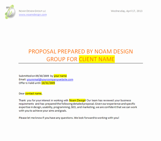 Web Design Proposal Template Best Of 17 Developing A Design Proposal Shipley Proposal