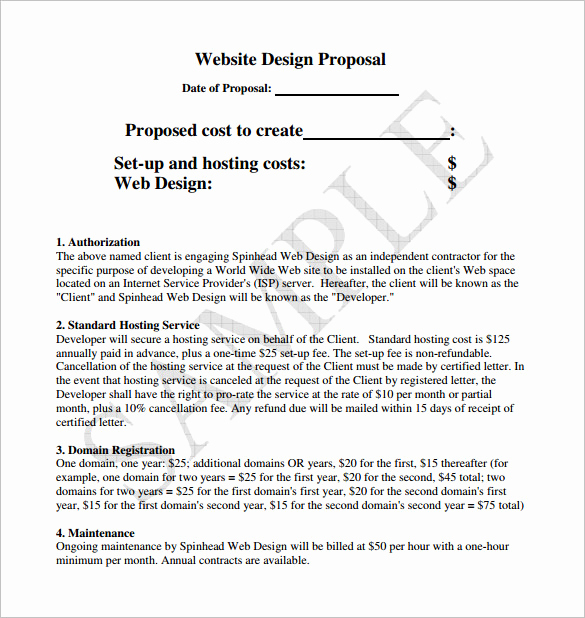 Web Design Proposal Template Inspirational Design Proposal Templates 17 Free Word Excel Pdf