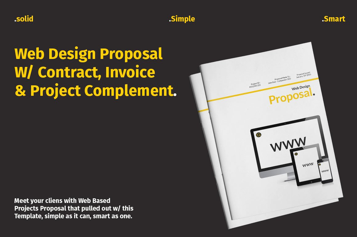 Web Design Proposal Template New Web Design Proposal W Plement Stationery Templates