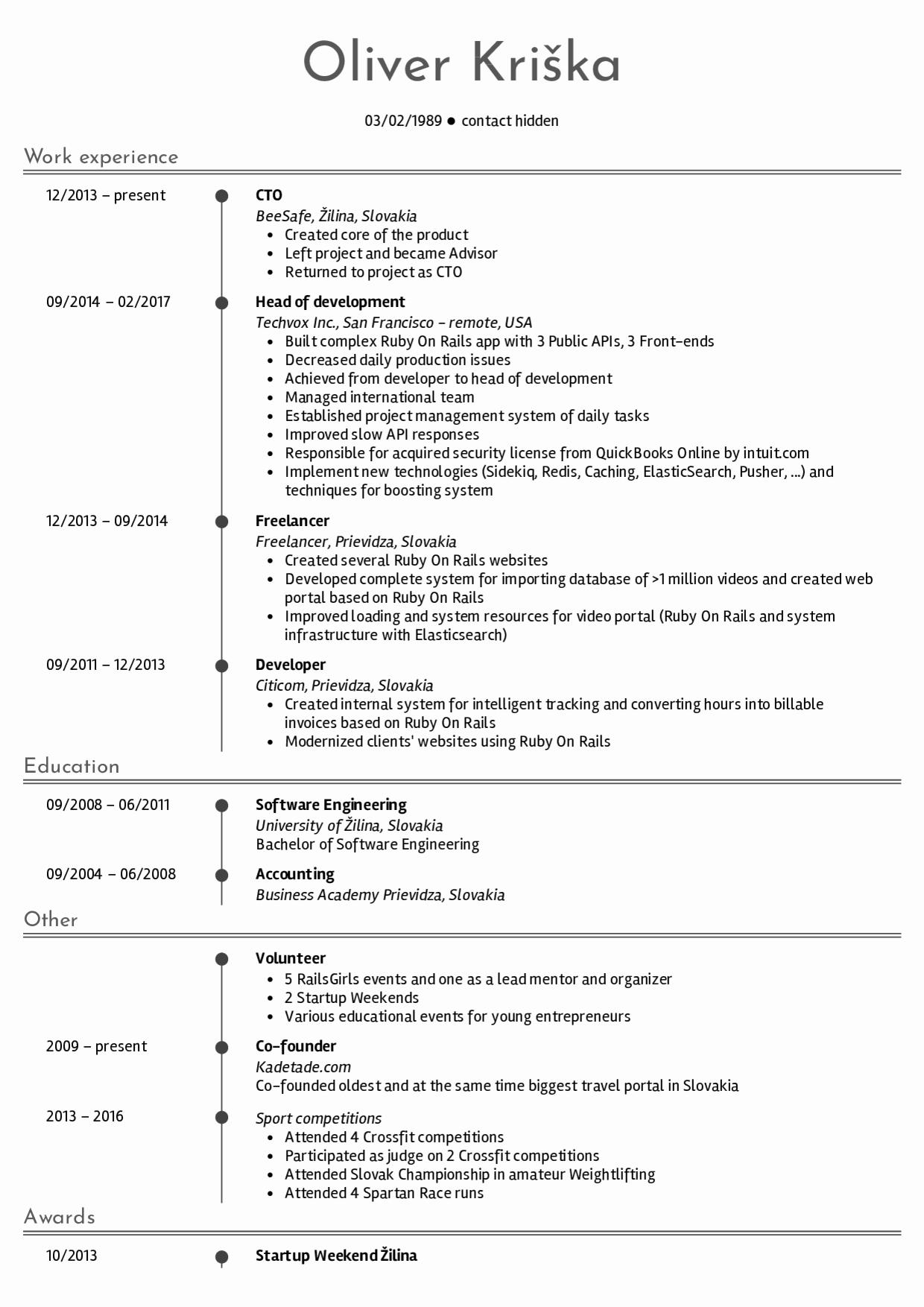 Web Developer Resume Sample Inspirational Resume Examples by Real People Senior Web Developer