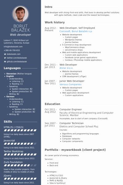 Web Developer Resume Template New Cv Mẫu Dành Cho Thiết Kế Website Idesign