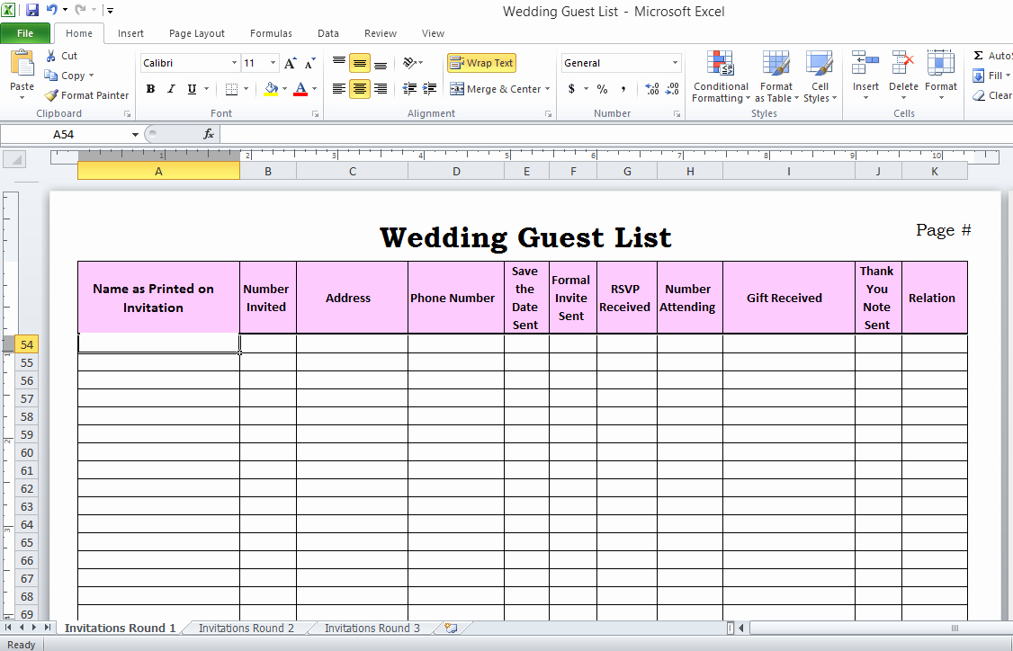 Wedding Guest List Excel Inspirational Wedding Guest List In Excel Need to Use This or something