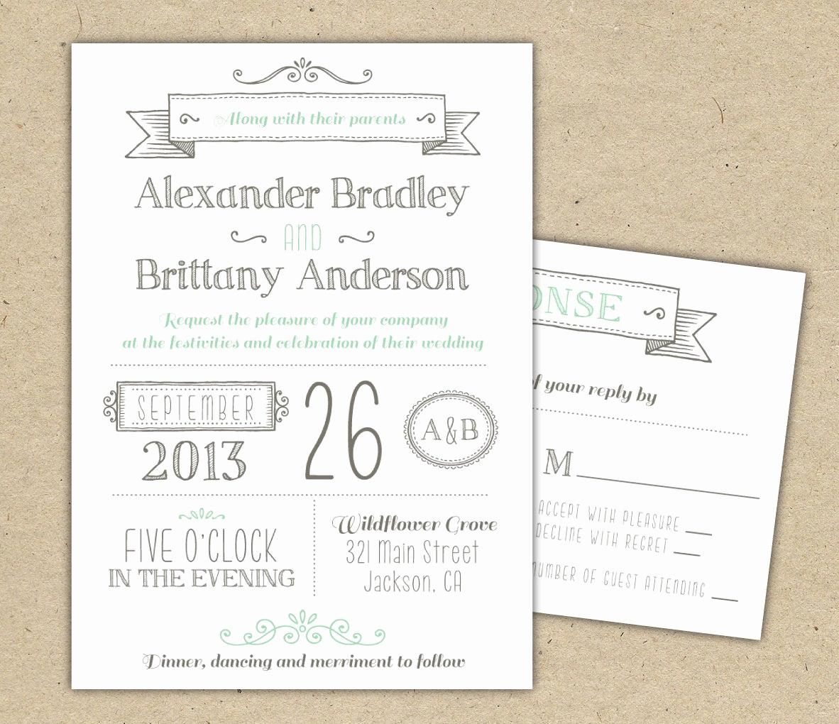 Wedding Invitation Templates Free Awesome Wedding Invitation 1041 Sample Modern Invitation Template