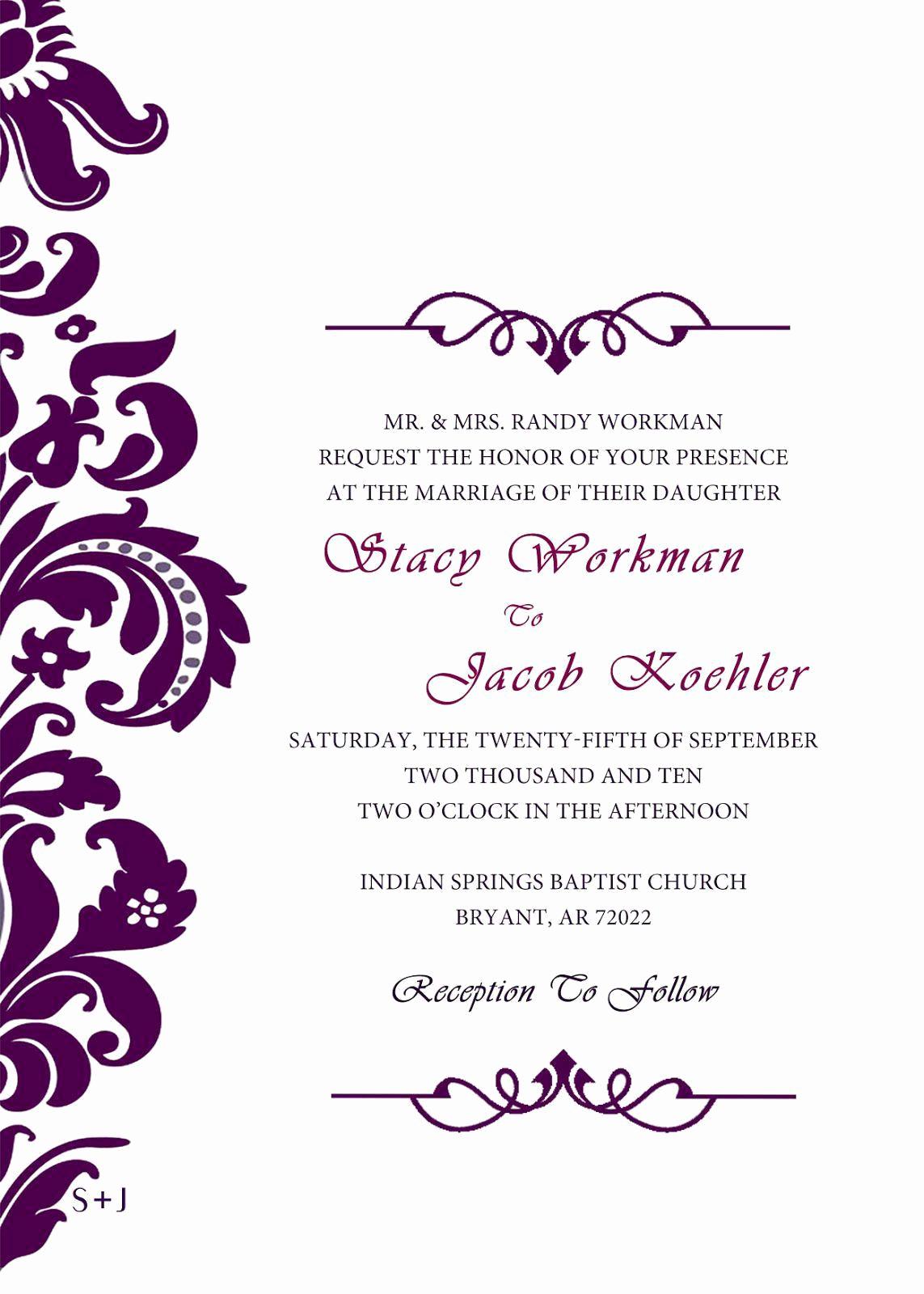 Wedding Invitation Templates Free Beautiful Best Invitation Cards Unique Wedding Invitation Card
