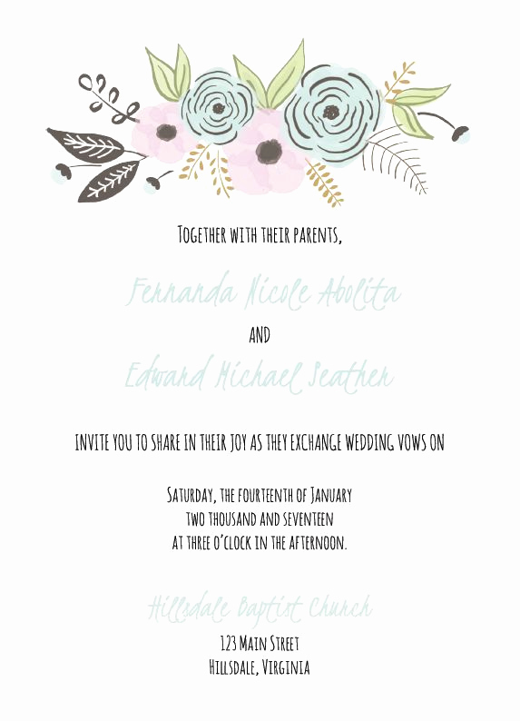 Wedding Invitation Templates Free New 529 Free Wedding Invitation Templates You Can Customize